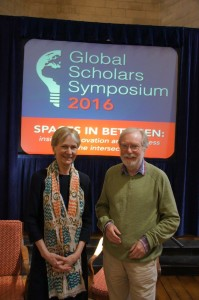 Sir Paul Collier with fellow Keynote Speaker Isabel Hilton, OBE.