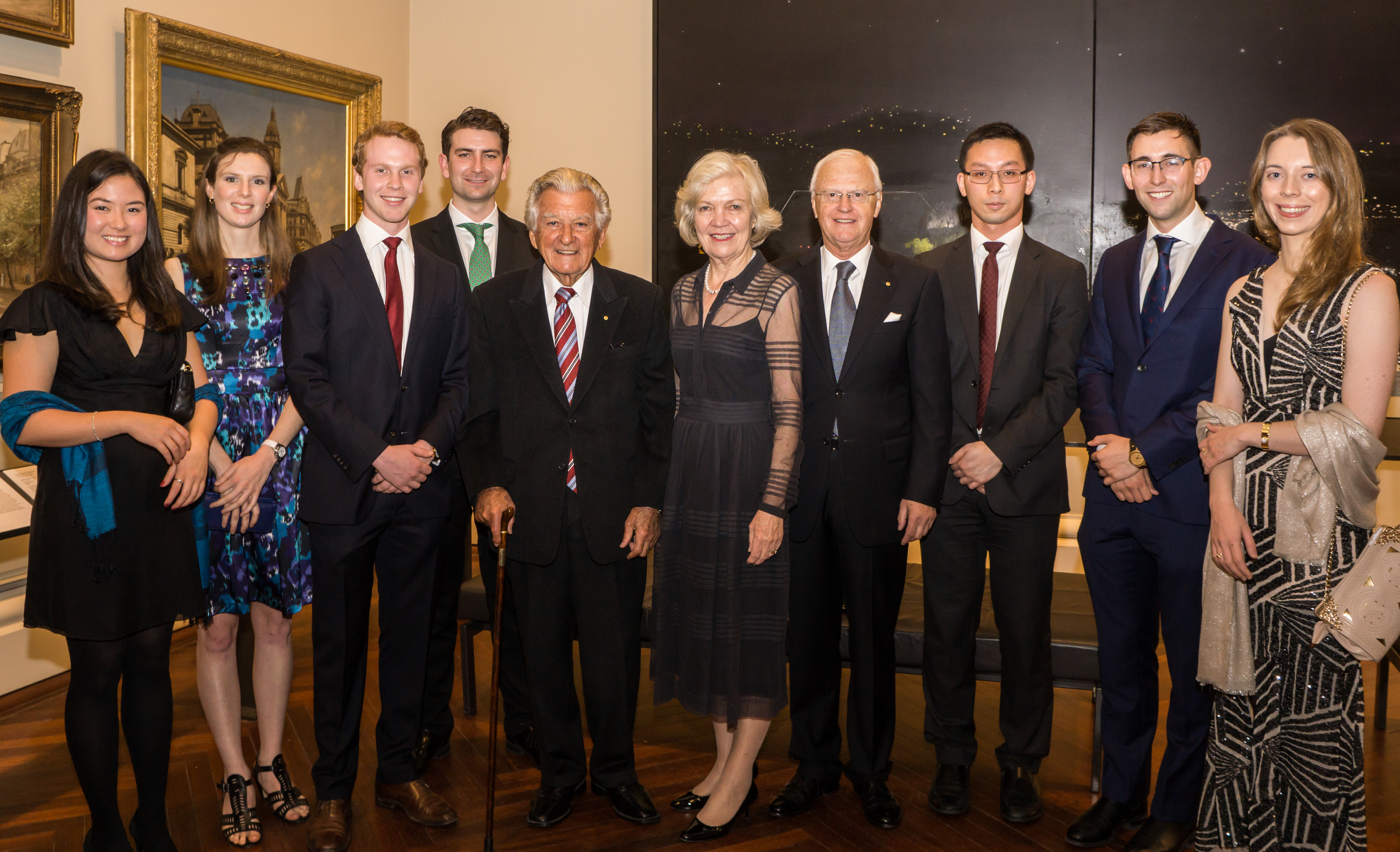 Scholars-Elect with the Hon Bob Hawke
