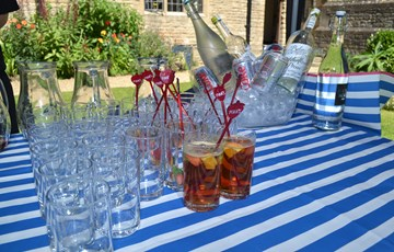 Summer drinks in the garden