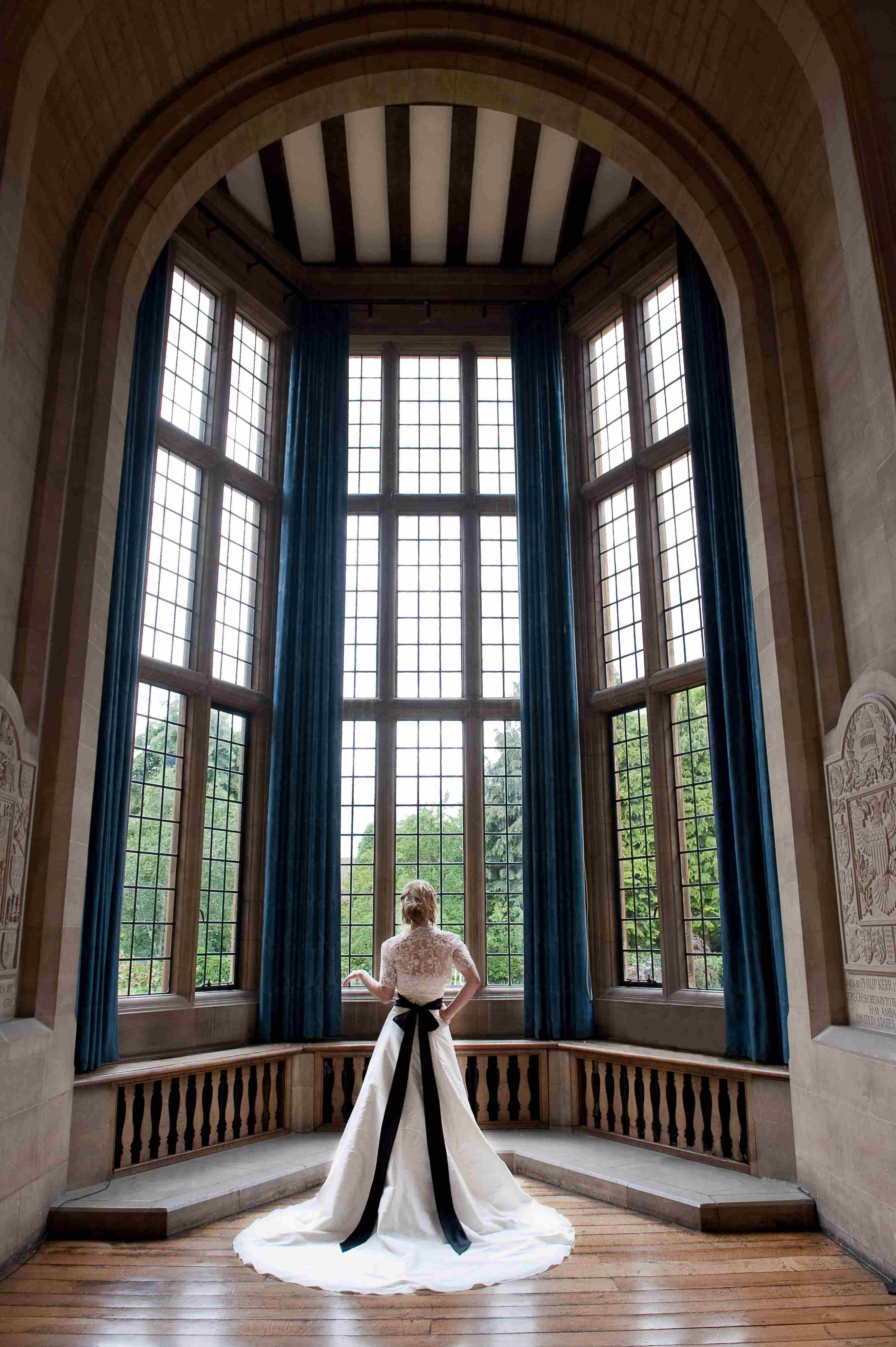 Bride in Milner Hall