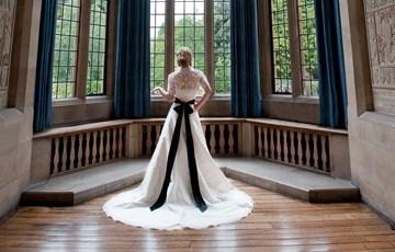 Bride in Milner Hall