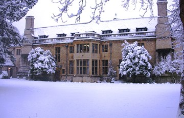 Rhodes House in the Snow
