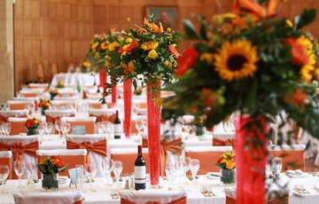 Milner Hall wedding tables