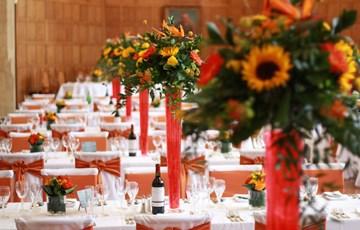 Wedding Breakfast in Milner Hall