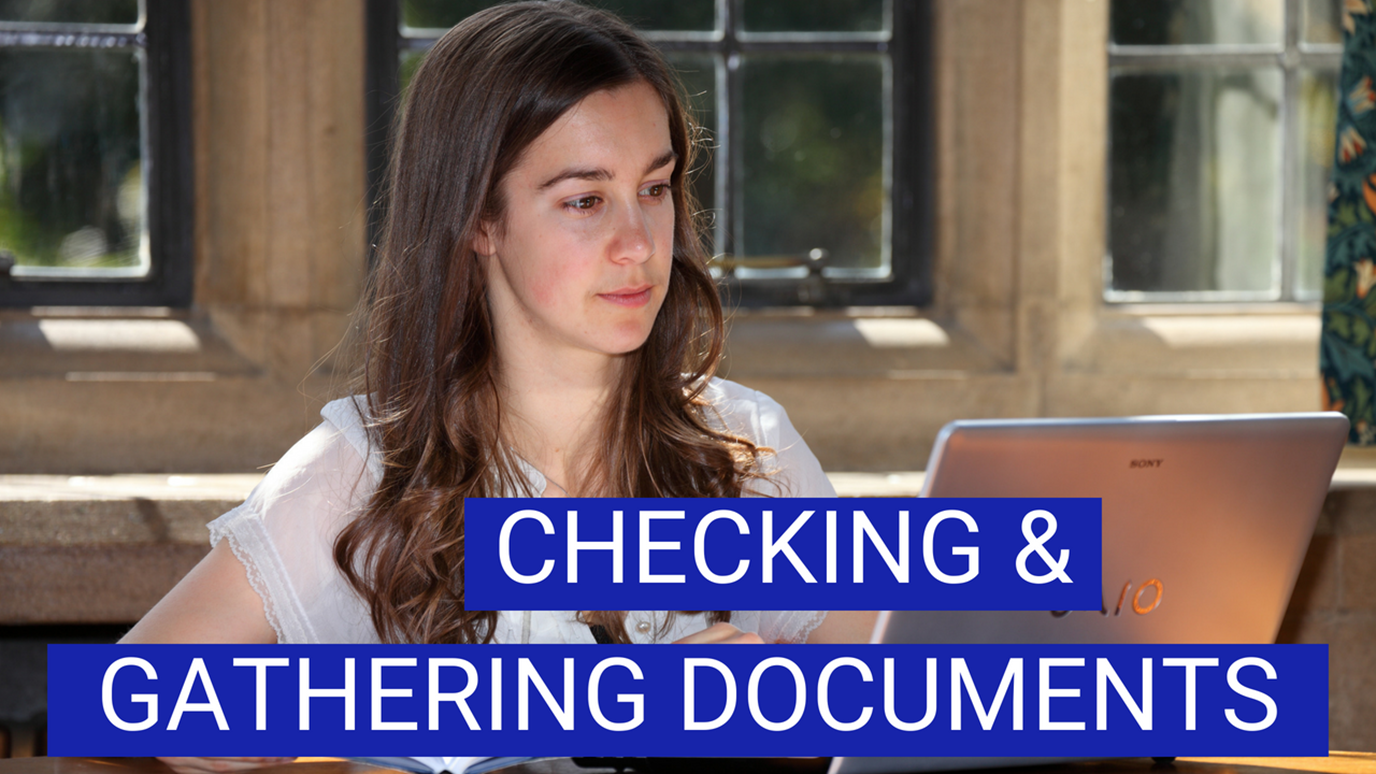 Gathering and checking docs for website