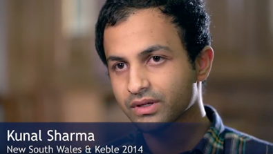 Video Screenshot - Kunal Sharma  (New South Wales & Keble 2014)