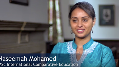 Video Screenshot - Naseemah Mohamed (Zimbabwe & St Edmund Hall 2013)