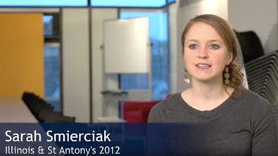 Video Screenshot - Sarah Smierciak (Illinois & St Antony's 2012)