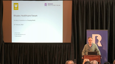 Video Screenshot - Prof Sir Jeremy Farrar Keynote at Rhodes Healthcare Forum