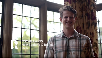 Video Screenshot - Oscar Lyons: Rhodes Profile (New Zealand & Balliol 2016)