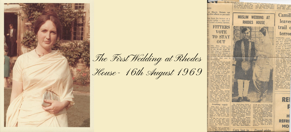 The First Wedding at Rhodes House - 16 August 1969